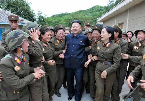 Image: North Korean leader Kim Jong-un visits the Thrice Three-Revolution Red Flag Kamnamu Company under the Korean People's Army Unit 4302